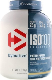 Dymatize Nutrition ISO 100 Hydrolyzed Whey Protein Isolate Birthday Cake 5 Lb 23 Kg