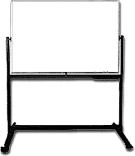 NA Double Sided Magnetic Whiteboard With Metal Stand & Wheels 1200mm x 2400mm (120cm x 240cm)