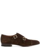 Santoni Vintage Doppel monk shoes