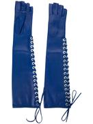 Manokhi lace-up fingerless long gloves