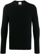 LeQarant textured knit crew neck sweater
