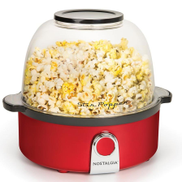 Nostalgia Retro Stir Popcorn Popper 600W, Red