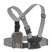 TELESIN Chest Strap With Dual Mount J Hook - Double Position Shooting Maximum Chest Size of 1.8 Meter Hydroscopic And Fast Dry