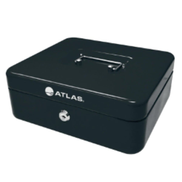 Atlas Cash Box Large 30x24x9cm, Black