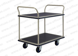 Prestar Heavy Duty Double Deck Trolley, dual-handle, NF-304, 300 kg Capacity