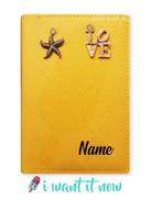Yellow Custom Passport Cover