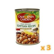 California Garden - Foul Egyptian Recipe 3 X 450 gm 3 X 450 gm