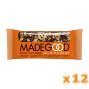 MADEGOOD Brazil Nut Orange Raw Fruit & Nut Bar 12 bars 12 bars