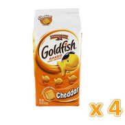 Peppridge Farm GoldFish Baked Snack Crackers - Cheddar 4 X 187 gm 4 X 187 gm