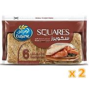 L'Usine Squares Brown Sandwich Bread 2 X 252 Gm