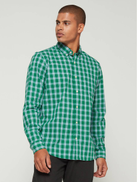 Gap Poplin Long Sleeve Shirt in Standard Fit in president green color