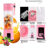 DBSCD Mini blender, smoothie juice cup - six blades, USB rechargeable battery, detachable cup, perfect blender for personal use,Purple