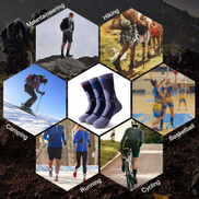 Lixada 3 Pairs Men Women Thermal Moisture-wicking Breathable Socks for Outdoor Activities Climbing Mountains Skiing Hiking Camping