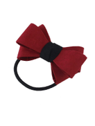 Red Flannel Bowknot Headbands Women Hairwear