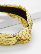Fishnet Overlay Knot Design Headband