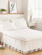 Solid Contrast Lace Sheet Set