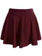 Plus Elastic Waist Solid Skirt