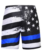 Men Star White And Blue Drawstring Bermuda Shorts