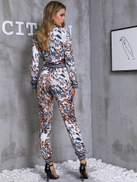 Leopard Print Zip Front Jumpsuit