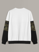 SHEIN Men Pocket Patched Camo Print Colorblock Sweatshirt