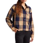 Brixton Bowery Flannel Womens Shirt - Khaki