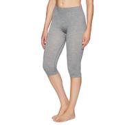 Falke Ess Wool Tech. 3 4 Womens Base Layer Leggings - Grey-heather