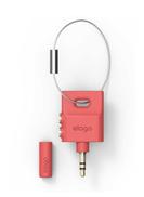 Elago Keyring Headphone Audio Splitter Italian Rose