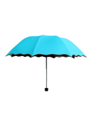 Voberry Anti-UV Folding Umbrella Blue Silver