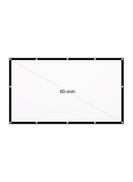 Portable Foldable 16:9 HD Projector Screen LU-V5-347 White Black