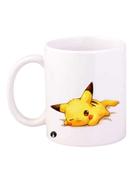 BP Pikachu Printed Coffee Mug White Yellow