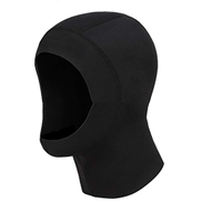 DHF 5MM Diving Hat Cold Winter Warm Diving Hood Winter Swimming Cap Supplies Snorkeling Equipment Warm Hat Color : Black, Size : XL