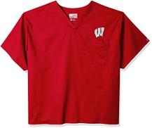 WonderWink Men's University of Wisconsin V-Neck Top