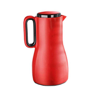 LXXSH Red ThermosHousehold Kettle Thermos Large Capacity Thermos Glass Liner Portable