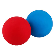 BINGONE Massage Lacrosse Balls 2 Pack,Massage Roller Therapy Ball for Myofascial Release,Deep Tissue Muscle Recovery,Foot,Back Neck Spine Shoulder,Trigger Point,Yoga TherapyBlue,Red