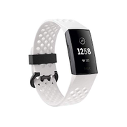 Fitbit Charge 3 Special Edition Fitness Tracker Frost White Graphite Large Small FB410GMWT