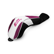 MBBD Golf Club Head Cover, Stylish Personality Design Golf Club Head Cover, Four Different Styles, Suitable For No. 1, No. 3, No. 5, Iron Wood Club purple + White, 1 Pack Golf club bag, golf ball