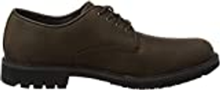Timberland Stormbuck Plain Toe Oxford Shoes 10.5 DM US Burnished Dark Brown Oiled