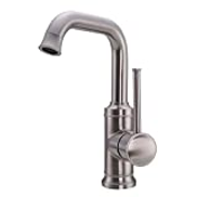 Cggdp Single Handle Bathroom Faucet 1 Hole High Square Bathroom Basin Faucet Brushed Plating Modern Bathroom Sink Faucet Basin Vanity Bar Faucet 360 Rotating Faucet A Price In Dubai Uae Compare Prices