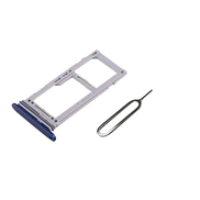 EMiEN Single SIM Card Tray Micro SD Holder Slot Replacement with Waterproof Sealing Gasket Ring for Samsung Galaxy S9 S9 Plus G960 G965 + SIM Tray Open Remover Eject Pin Blue YCONAMZPTNB5111