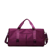 Joyeworld Duffle Bag Dry Wet Separated Bag Sport Duffle Bag Training Handbag Yoga Bag with Extra Drawstring Backpack purple