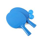 XSWY Table Tennis Racket, Children's Racket, 2 Packs send: 2 Balls Color : Blue