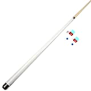 ZHTY Pool Cue, 5 Color 57 Inch Handmade 1/2 Joint American Cue Set Maple 11.5mm Tip