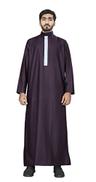JSDC Arabic Style Thobe Kurta Dishdasha For Men Wine 60