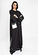 3bayte Embroidered. Patched and piping desgin abaya for women