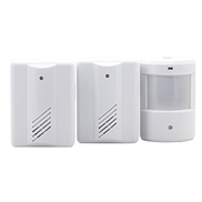Readygoo Security, alarm, doorbell 2 to 1 PIR Infrared Sensors Wireless Doorbell Alarm Detector for Home Office