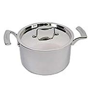 Balzano Venice Stainless Steel Sauce Pot With Lid 24 Centimeter