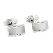 AUSCUFFLINKS Pearl White Stone Cufflinks Groomsmen Cuff links 5 Yr Warranty Gift Box Included