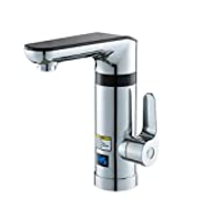 APTBJKUiU Electric faucet, 220V 3000W high power water inlet water tank electric water heater, hot water dispenser, suitable for kitchen, garage, gym, playground, park toilet or sink