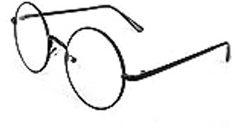 Other Retro Clear Lens Nerd Frame Round Full Metal Sunglasses