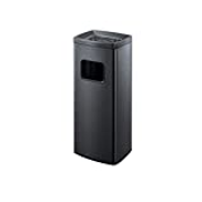Ffshop Kitchen Trash Cans Outdoor Indoor Recessed Panel Trash Can Decorative Fluted Panels Stainless Steel Ashtray Trash Cans Color Black Price In Dubai Uae Compare Prices